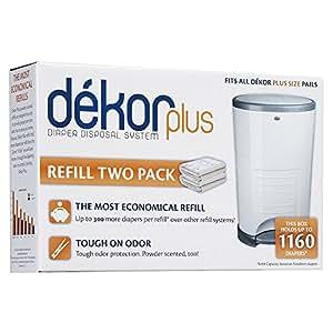 Diaper Dekor Plus Refill, 2 Count