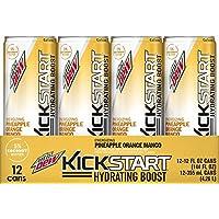12-Pack Mountain Dew Kickstart Hydrating Boost, Pineapple Orange Mango,12oz