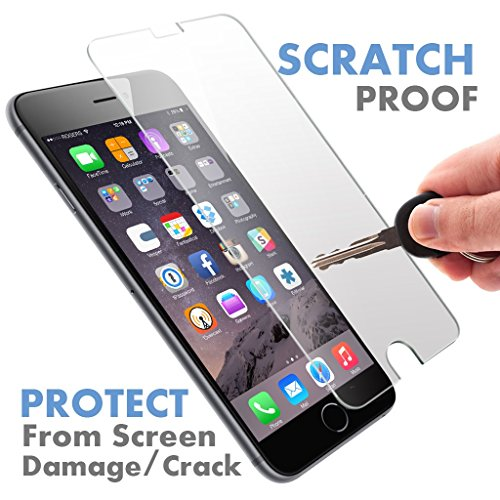 iPhone 6S Plus / 6 Plus ? PREMIUM QUALITY ? Tempered Glass Screen Protector by Voxkin - Top Quality Invisible Protective Glass - Scratch Free, Perfect Fit & Anti Fingerprint - Crystal Clear HD Display (I Phone 6 S Accessories compare prices)