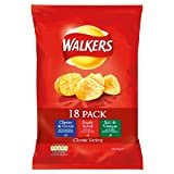 Walkers Variety 18 Pack 18 x 25g