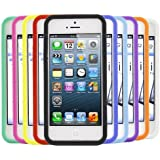 iTALKonline Apple IPhone 5S (2013) 10 PACK PURPLE RED GREEN BLUE YELLOW BLA Soft Silicone Protective Armour Case Skin Cover Shell