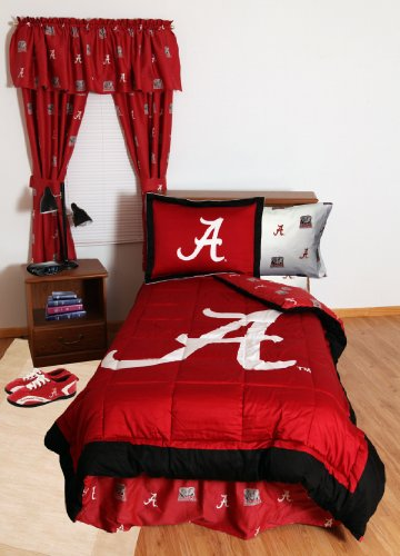 Alabama Crimson Tide (2) Piece Twin Reversible Comforter Set And One Matching Window Curtain Valance - Entire Set Includes: (1) Twin Reversible Comforter, (1) Standard Pillow Sham And (1) Matching Window Curtain Valance - Save Big By Bundling! front-1016154