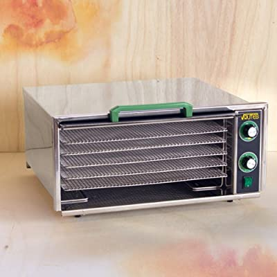 Raw Rutes - Square Rutes 5 Tray Stainless Steel Food Dehydrator by Raw Rutes
