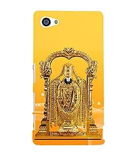 Golden Venkateswara 3D Hard Polycarbonate Designer Back Case Cover for Sony Xperia Z5 Compact :: Sony Xperia Z5 Mini