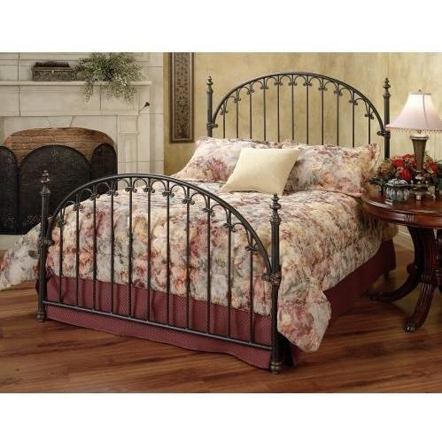 Hillsdale Furniture 1038Bkr Kirkwell Bed Set With Rails, King, Brushed Bronze front-973020