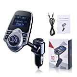 Topop-Bluetooth-FM-Transmitter-USB-Autoladegert-Wireless-Auto-Kit-mit-35-mm-Audio-Anschluss