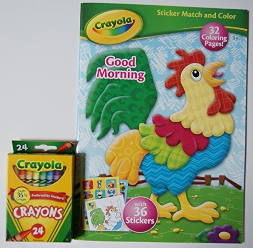 Crayola Good Morning Coloring Book with Stickers and Crayons - 1