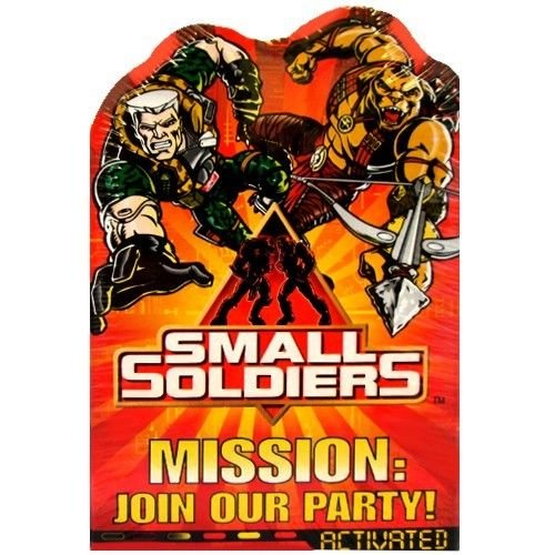 Small Soldiers Invitations w/ Envelopes (8ct)