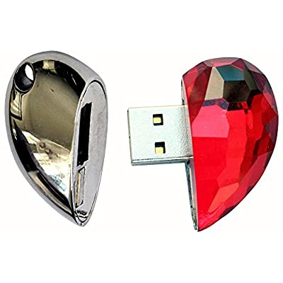 16 GB Pen Drive Red HeartShape USB 2.0 Pen Drive CR1027