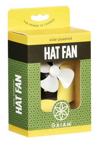 Gaiam Solar Powered Hat Fan