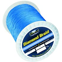 Momoi Diamond Braid Spectra - 600 yd. Spool - 130 lb. - Hollow - Blue