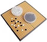 Amateras 囲碁 囲碁盤 セット 折りたたみ式 ポータブル マグネット石 大盤 37×37cm 初心者 プロ 兼用 【AM357】 4589904963575
