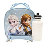 Disney Frozen Elsa Anna and Olaf Light Blue Lunch Bag and Coloring Book