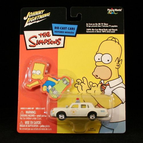 Picture of Playing Mantis CHIEF WIGGUM'S POLICE CRUISER The Simpsons 2003 Johnny Lightning Die-Cast Vehicle Figure (B003YNESXK) (Playing Mantis Action Figures)