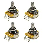 Set of 4 (4X) CTS 500K SHORT Split Shaft Audio Taper Potentiometers