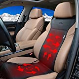 KINGLETING 12-Volt Heated Seat Cushion with Intelligent Temperature Controller.(Black)