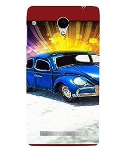 PrintVisa Cute Car 3D Hard Polycarbonate Designer Back Case Cover for VivoY28