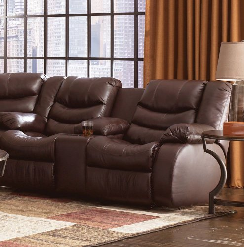 Revolution D Double Reclining Loveseat With Console Burgundy/Standard front-893274