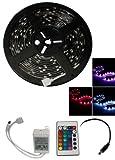 フルカラーRGB 5M 150連 防水LEDテープライト 5050/長さ調整可能/折り曲げ可能 リモコン付き  並行輸入品