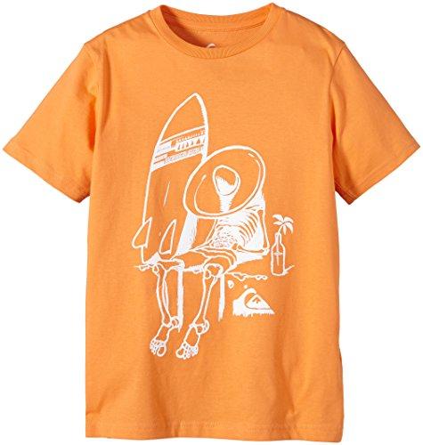 Quiksilver, Maglietta a maniche lunghe Bambino, Arancione (Tangerine), S