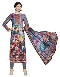 Texclusive Women's Pashmina straight cut digital printed Dress Material