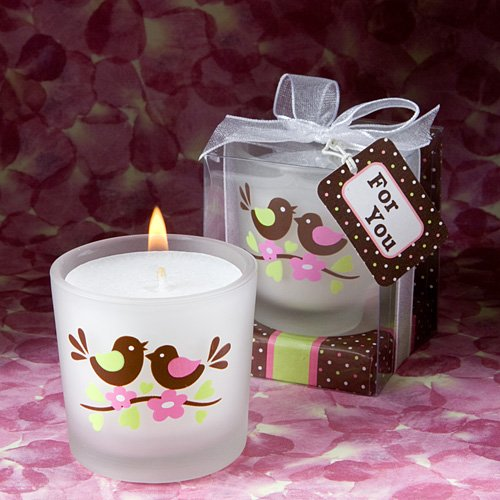 Enchanting love bird candle favors (Set of 72)