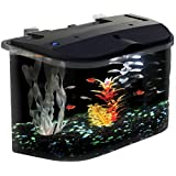 KollerCraft Aquarius Aquarium Kit with LED Lighting and Internal Power Filter, 5-Gallon