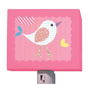 Oopsy Daisy Fine Art for Kids NL8205RT Mod Chick On Hot Pink Night Light