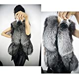 Zeagoo Womens Faux Fur Vest Leather Vest Outerwear Coat Jacket Gilet