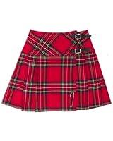 Mini kilt/jupe pour femme -tartan/écossais - Royal Stewart - 42 cm (longueur)