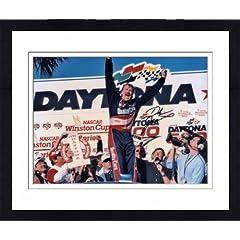 Framed Dale Jarrett Autographed Daytona 500 Photo - SM Holo - Autographed NASCAR... by Sports Memorabilia