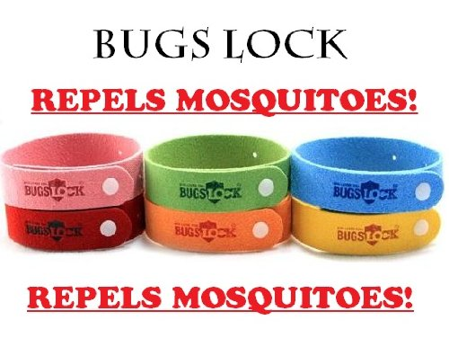 50 PCS Bugs Lock BugsLock Insect Mosquito Repellent Wrist Bands