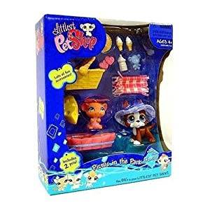 littlest pet shop 92492 portable pets gift set 1440 lila taube und 1441 kaninchen. Black Bedroom Furniture Sets. Home Design Ideas