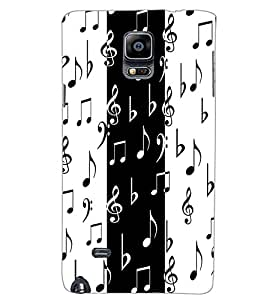 SAMSUNG GALAXY NOTE 4 MUSIC Back Cover by PRINTSWAG