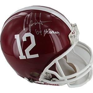 Mark Ingram Alabama Authentic Helmet w  09 Heisman Insc. by Steiner Sports