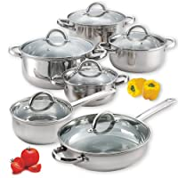 Cook N Home 12-Piece Stainless Steel Set from Neway International Housewares