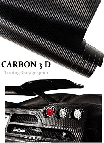 1775-x20acM-100-cm-x-152-cm-Autocollant-Film-canaux-Air-carbone-3D-Noir