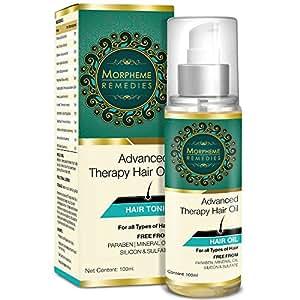 Morpheme Advanced Therapy Hair Oil - 100ml (Anti Hair Fall, Hair Loss & Hair Repair) - No Mineral Oil, Sulphate