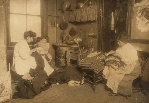 1912 child labor photo Row of tenements, 260 to 268 Elizabeth St., N.Y., in which a great deal of fi