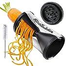 Kitchen Active Spiral Slicer, ABS Plastic with Stainless Steel Japanese Blades, Black