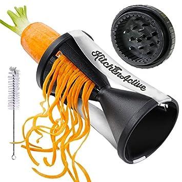 Kitchen Active Spiralizer Spiral Slicer Zucchini Spaghetti Pasta Maker Black