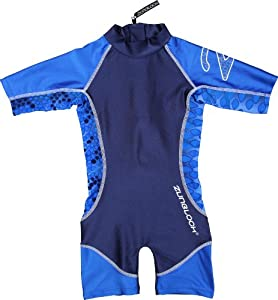 Zunblock Snake Combinaison manches courtes anti-UV Enfant Bleu Taille 74/80