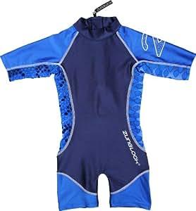 Zunblock Snake Combinaison manches courtes anti-UV Enfant Bleu Taille 98/104
