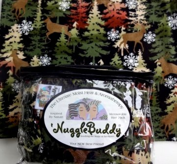 'Nugglebuddy New For Holiday 2014! Moist Heat & Aromatherapy Organic Rice Pack For Microwave. Perfect For Winter Nights! Thick And Cozy Gorgeous Deer Print Flannel. Great Gift Idea! See Many Other 'Nugglebuddy Selections By Searching For Nugglebuddy Under