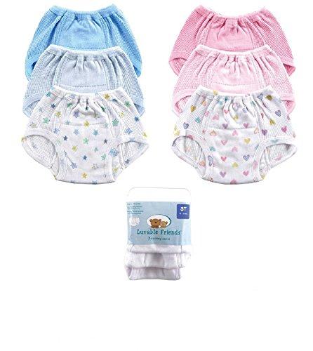 luvable friends 3er Pack weiß Trainerhosen 4 Jahre 15,4 bis 17,2 Kg Unterwäsche Töpfchentraining Toilette Baby Töpfchen