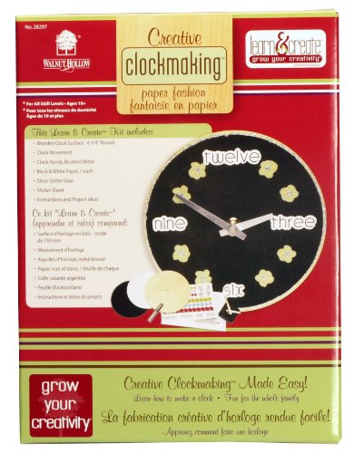 Walnut Hollow Creative Clockmaking Paper Fashion Kit