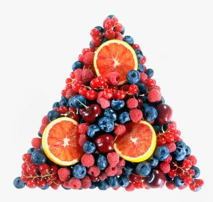 Studio Shot Of Pyramid Made Of Fruits Wall Decal - 42 Inches W X 40 Inches H - Peel And Stick Removable Graphic