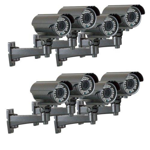 "Gw 8 X 1/3"" Panasonic Ccd Outdoor Camera, 2.8~12Mm Lens, 700 Tv Lines, 36Pcs Ir Led, 82 Feet Ir Distance. Vandal Proof & Water Proof"