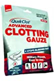 QuikClot Advanced Clotting Gauze, 3 Inch x 24 Inch, 0.085 Pound