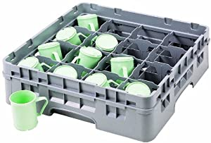 Cambro 16C578151 5-7/8-Inch Camrack Plastic Cup Rack with 16 Compartments, Full, Soft Gray at Sears.com